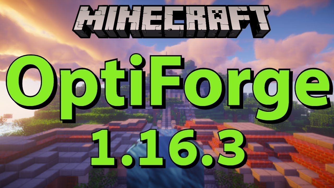 Optiforge 1 16 3 Mod How To Install Optifine With Forge In Minecraft Installation Minecraft 1 Forging