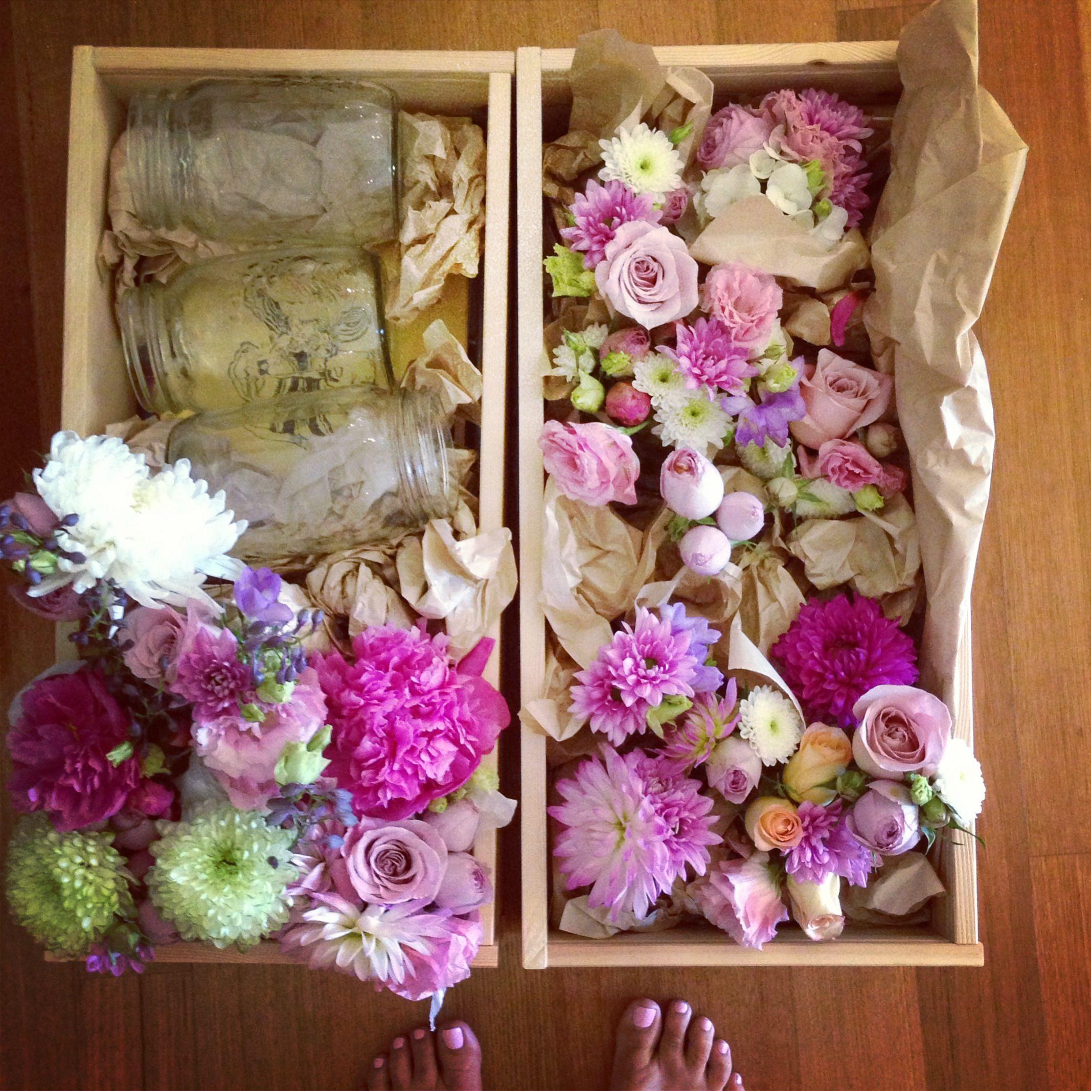 Stunning wedding blooms