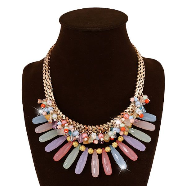 #Acrylic #Necklace, awesome style with herringbone chain, more colors.