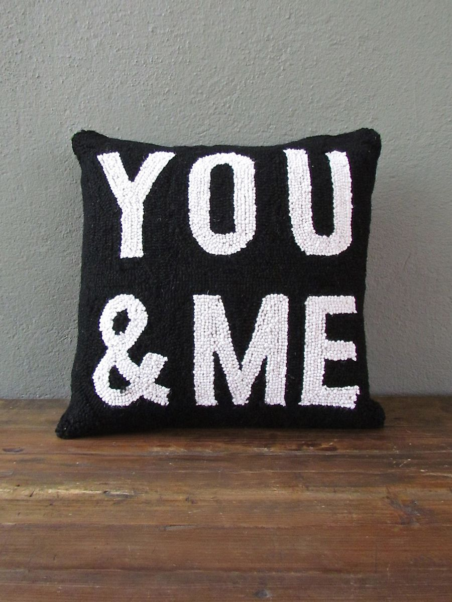 you + me pillow - simple + to the point