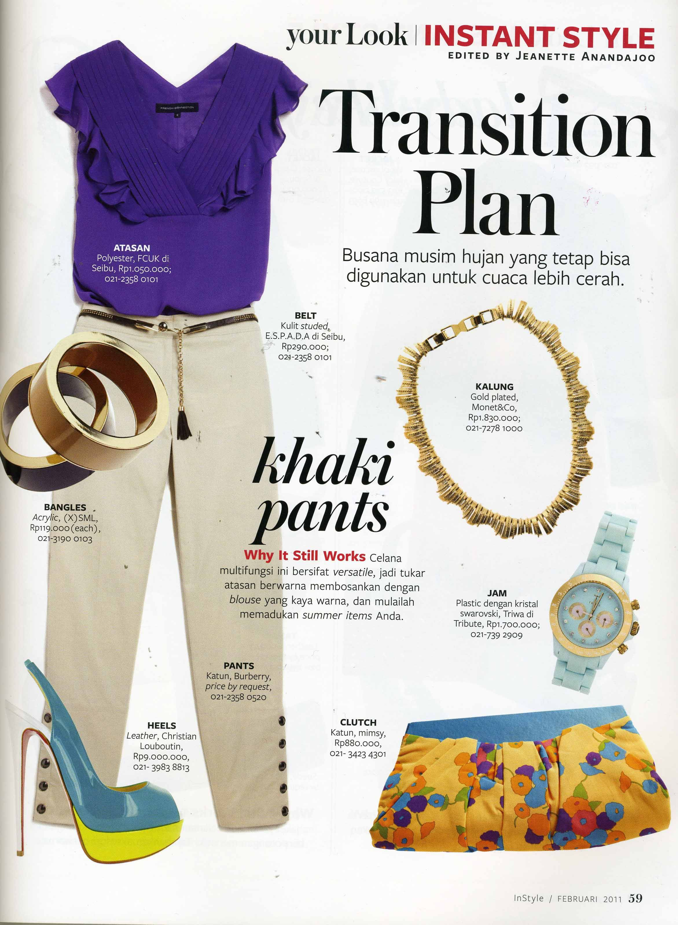 Design a t shirt rubric -  X S M L Bangles Is Appeared On Instant Style Rubric On Instyle Indonesia February