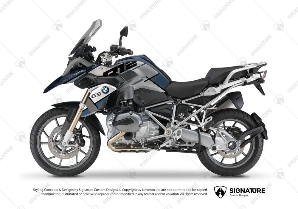 Bmw R1200gs Lc Frozen Blue Vector Ocean Blue Grey Stickers Signature Custom Designs Bmw R1200rt Bmw Motorrad Bmw Motorcycles