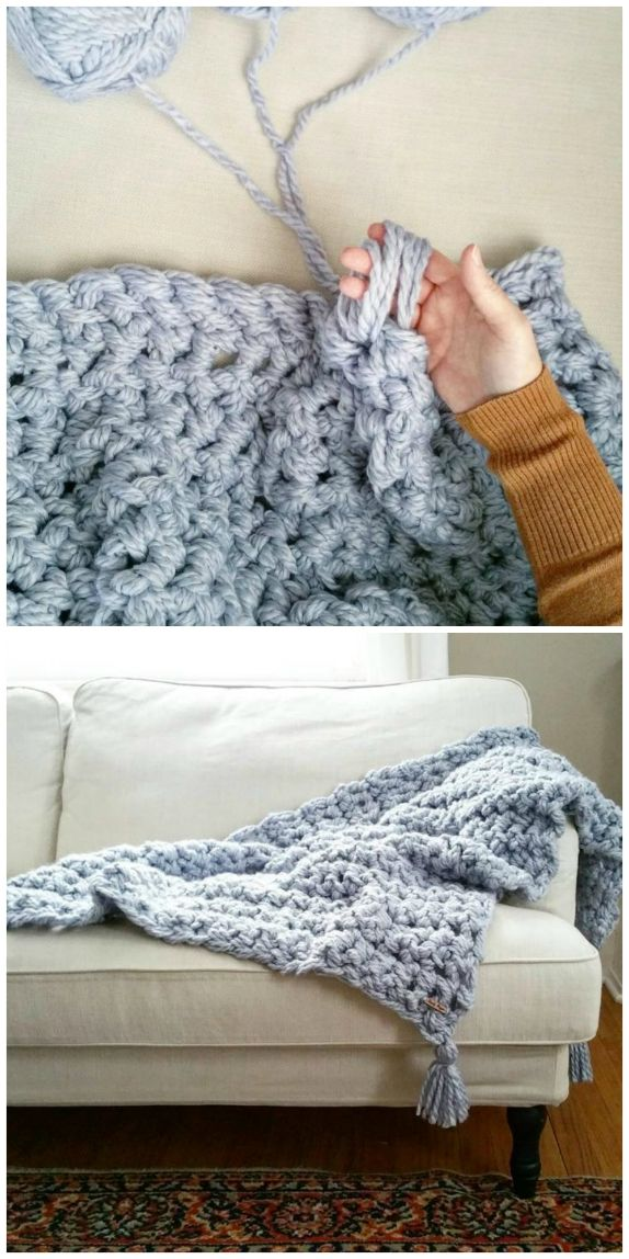 Hand Crochet Chunky Blanket Patterns | The WHOot