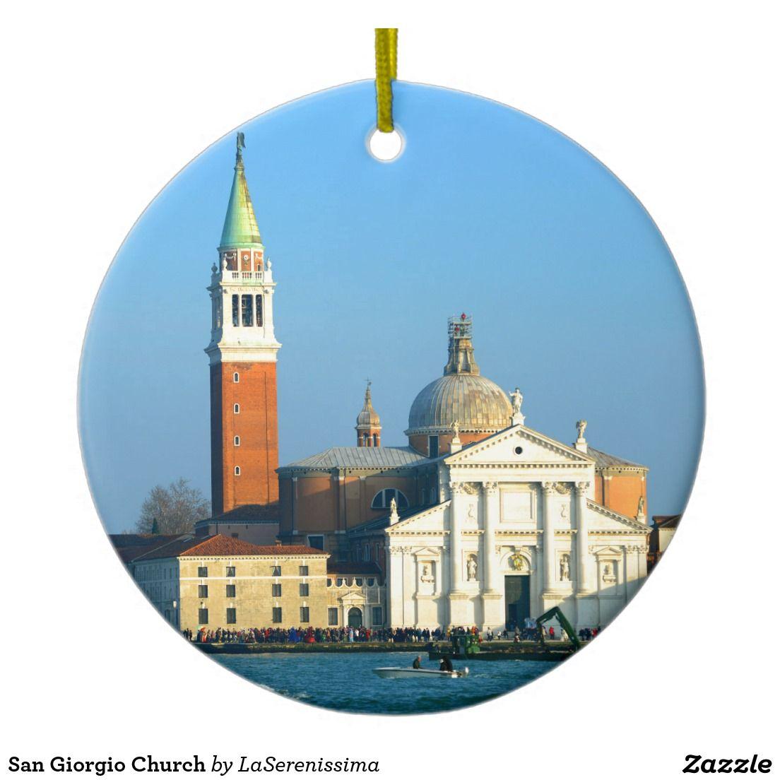 San Giorgio Church Ceramic Ornament