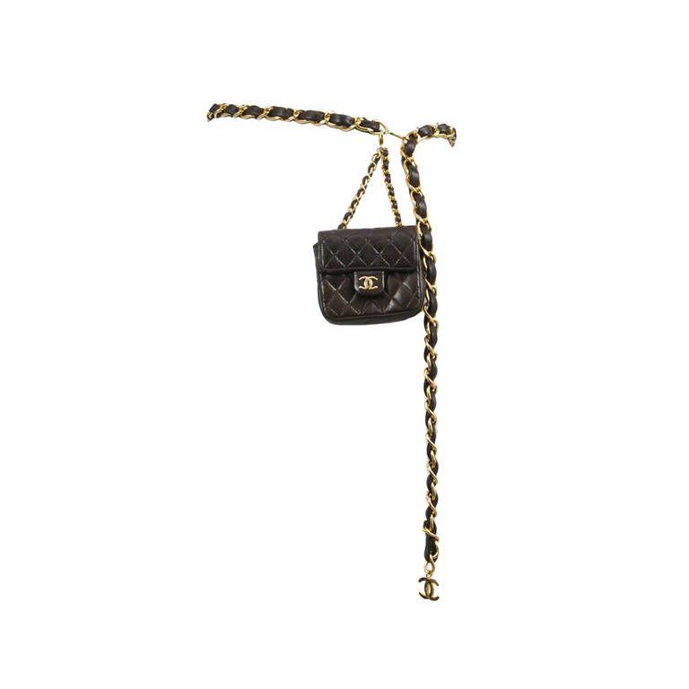 Chanel Brown Leather Belt Bag