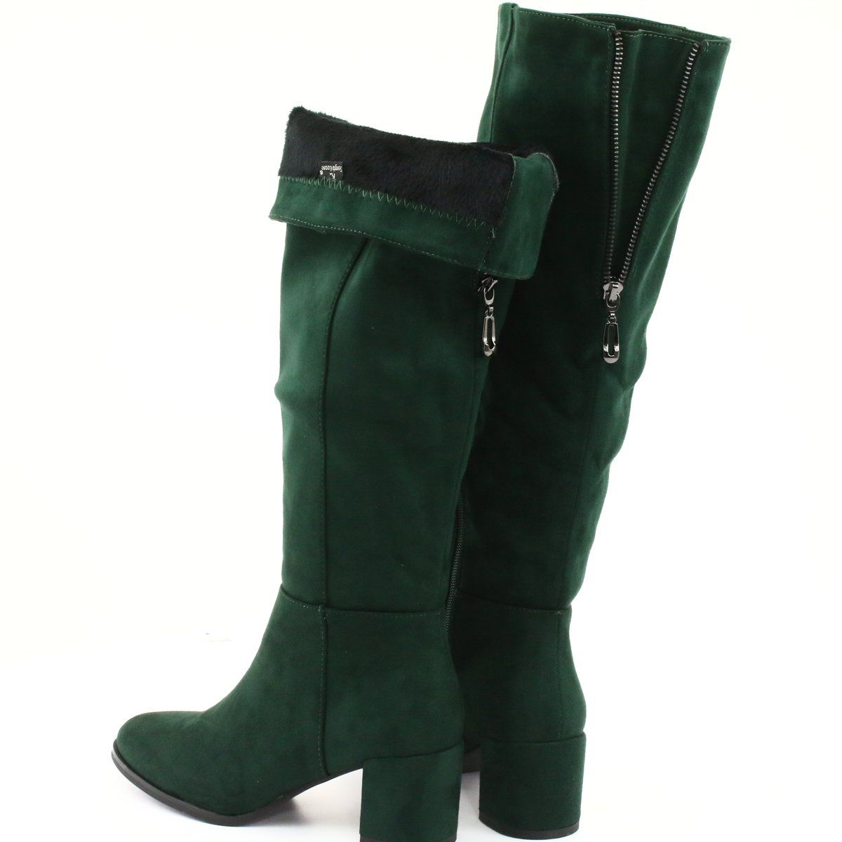 Kozaki Zielone Sergio Leone Kz273 Boots Knee Boots Sergio