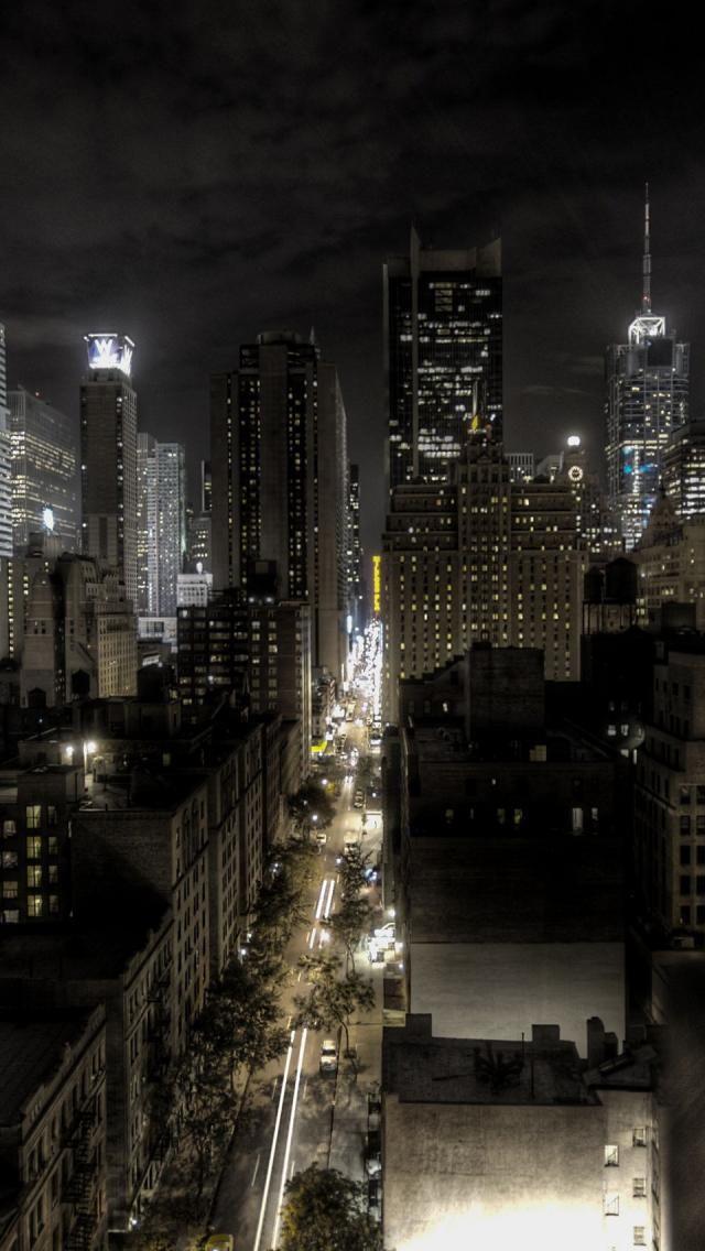 New York at night HDR