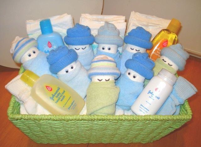 Lovely Diaper Babies  Made W/ Newborn Diaper, Wash Cloths, U0026 Socks Baby Shower  Gift Gift Idea Baby Gift