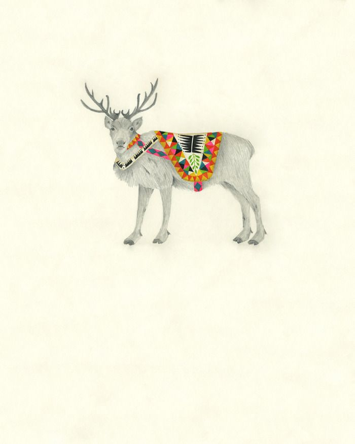 Image Of Norwegian Reindeer Male Illustrated By Lisa Congdon Lisa Congdon Art Illustration Art