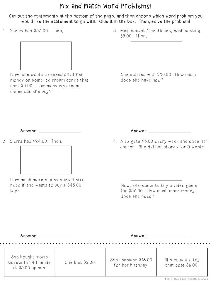 Multi-step Word Problem Freebie! Students get to create and then - how to make a signup sheet in word