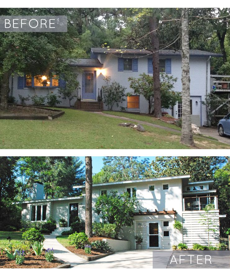 Before And After Garage Remodels: Before And After: Split-Level Remodel