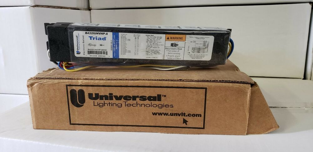 Sponsored Ebay B432iunvhp A Universal Electronic Ballast 120 277v 4 F32t8 Pack Of 10 Ballast Ebay Universal