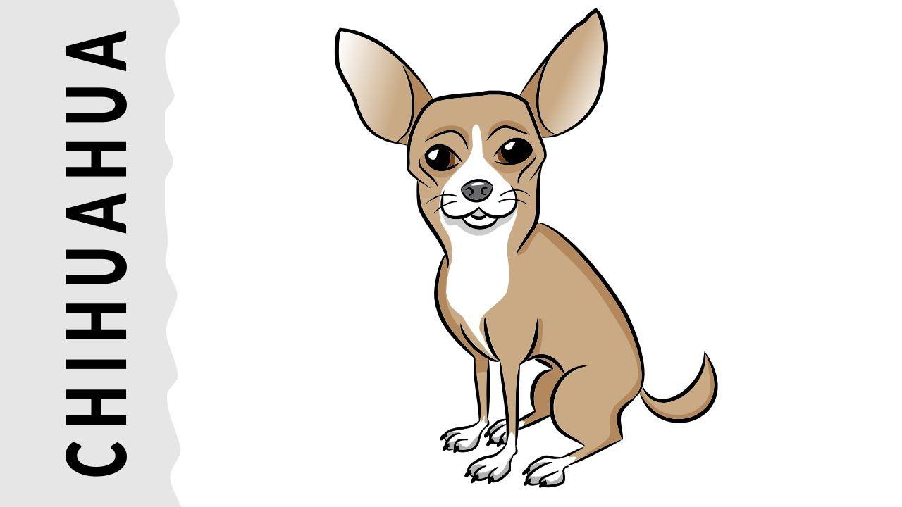 Como Dibujar Un Perro Chihuahua Paso A Paso Con Dibujart Com Como Dibujar Un Perro Perros Chihuahua Como Dibujar