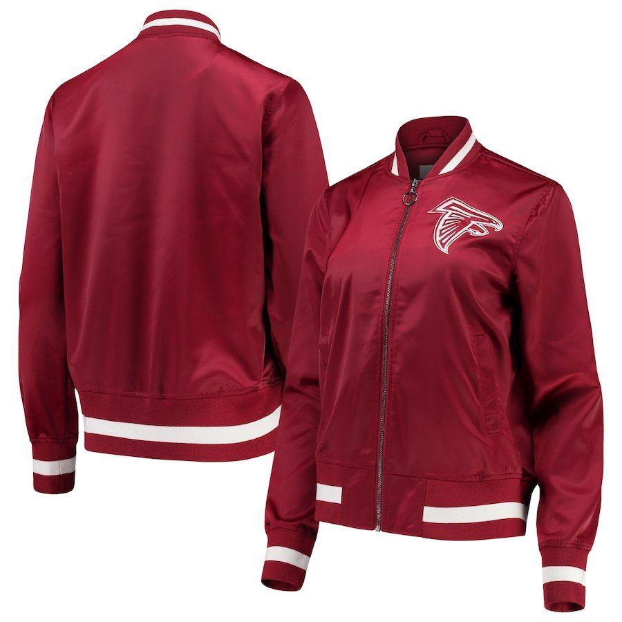 Atlanta Falcons Touch By Alyssa Milano Women S Extra Point Bomber Jacket Red Red Jacket Jackets Bomber Jacket [ 900 x 900 Pixel ]