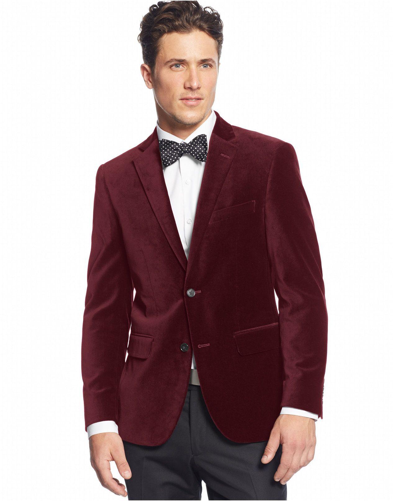 Alfani RED Velvet Slim-Fit Sport Coat - Blazers & Sport Coats ...