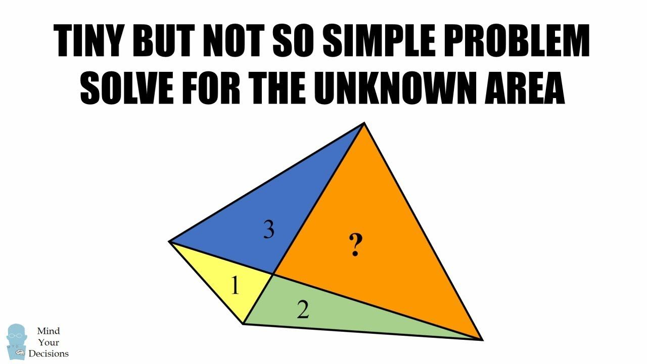 Can You Solve The Quadrilateral Areas Puzzle A Tiny But Not So Simple P Quadrilaterals Problem Solving Solving