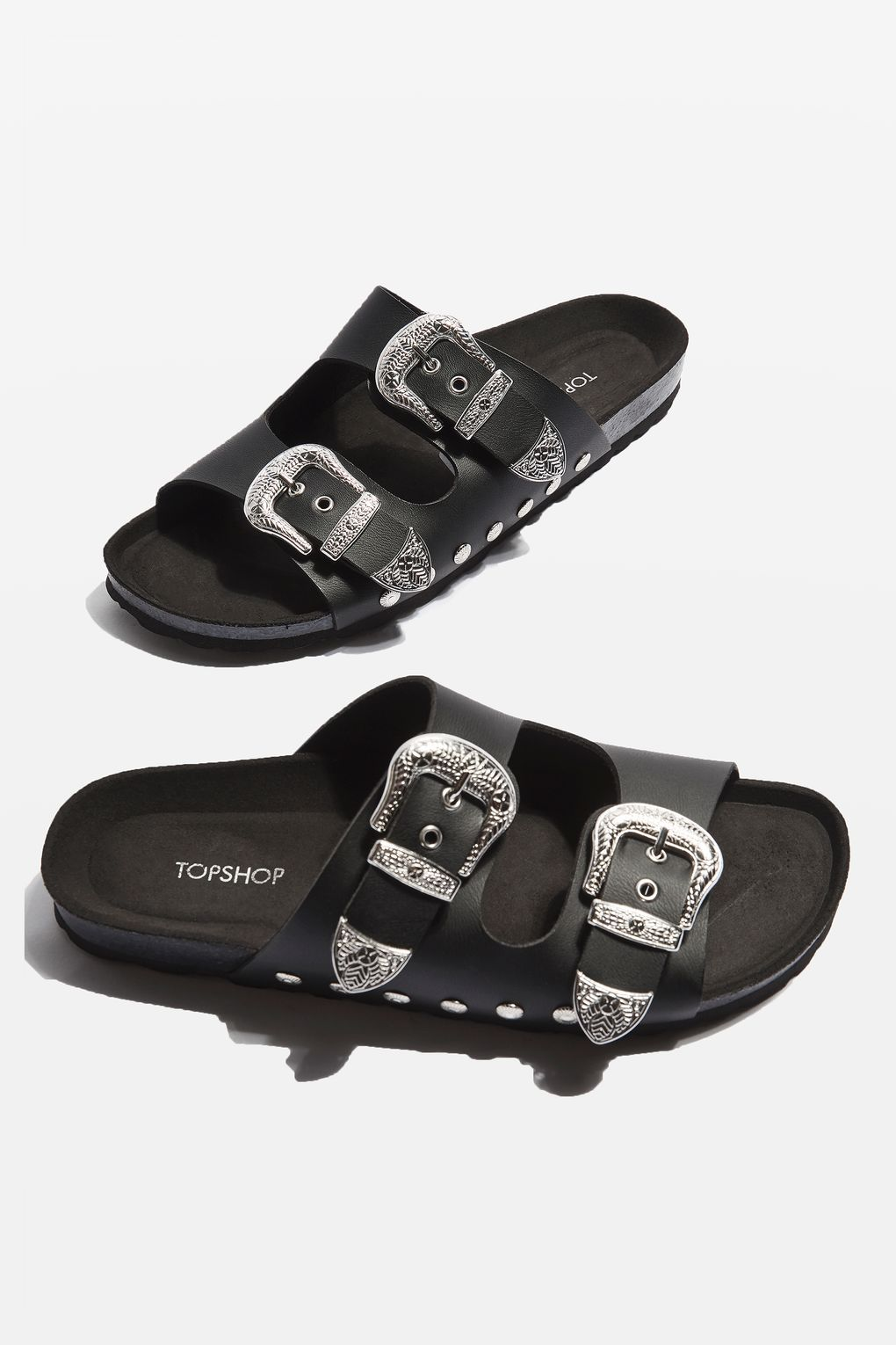 Topshop / Falcon Buckle Sliders / Red