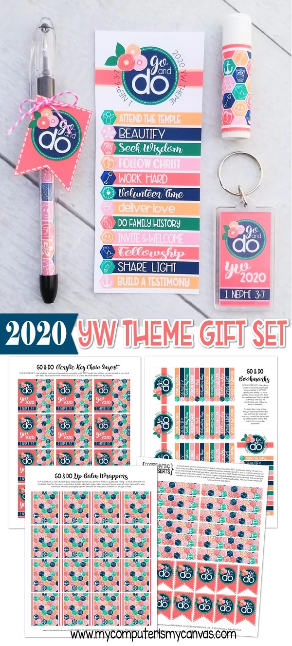 2020 YW Go & Do Theme Handouts {Gift Set} PRINTABLES #churchitems