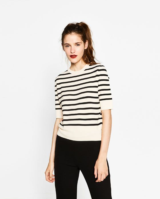 Image 2 of STRIPED SWEATER from Zara