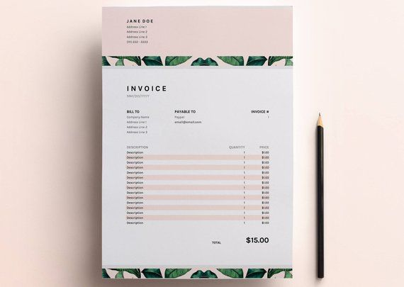 Invoice Template, Business Invoice Spreadsheet, Google Sheets +