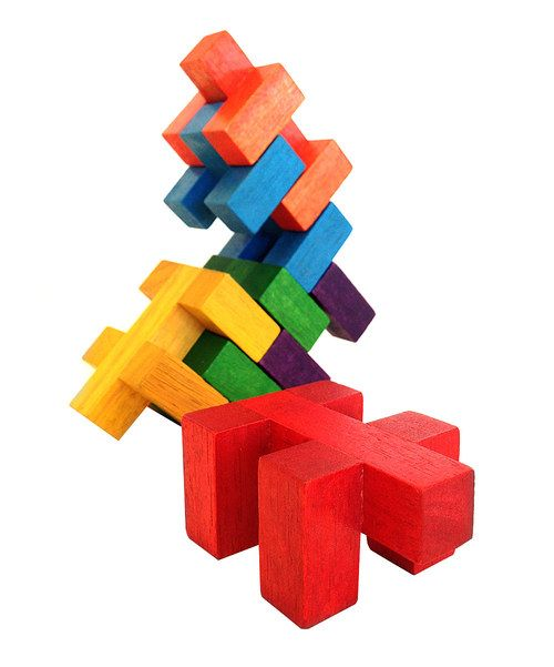 Another great find on #zulily! Mulch M Goodwood Deconstruction Blocks by Aroundsquare  #zulilyfinds
