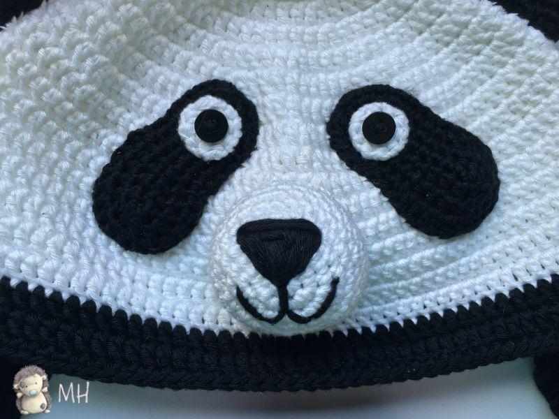 Gorro panda a crochet | llaveros | Pinterest | Crochet divertido ...