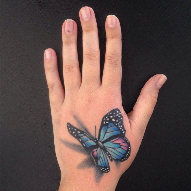 Butterfly 3D Tattoo - Original Dragão Tattoo Studio. Savassi, BH.