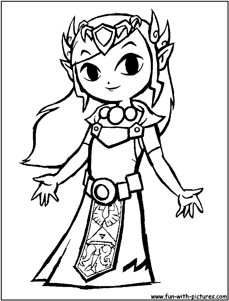 zelda coloring page - Google Search | Coloring/Drawing | Pinterest ...