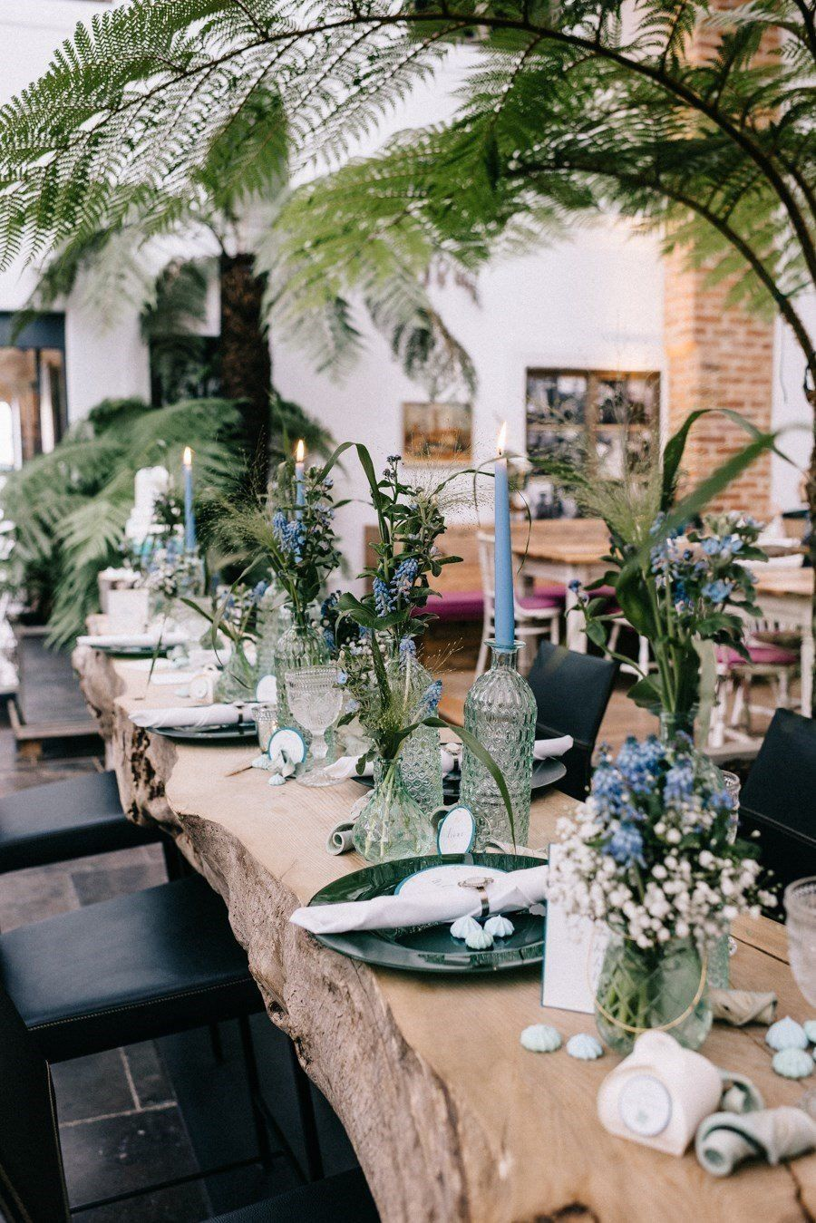 Inspiration Fur Eine Hochzeit Unter Palmen In Grun Und Blau