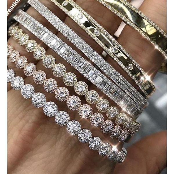 Photo of 14k Diamond Baguette Bangle Bracelet – Bracelets
