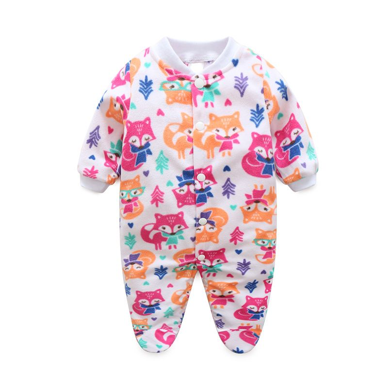 054a048d768e Newborn Baby Clothes Boy Girl Footed Rompers Animal Baby Romper Long ...
