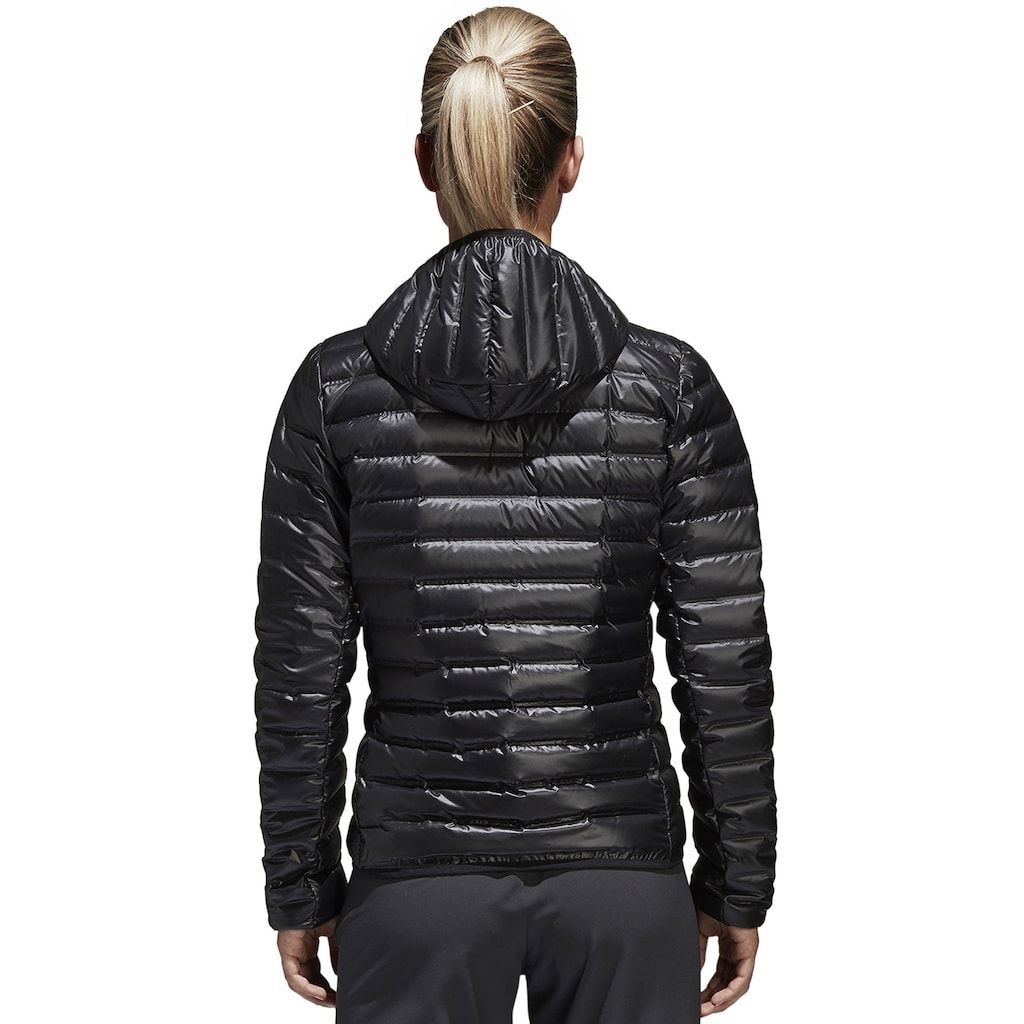Women's adidas Varilite Hooded Jacket | Daunenjacke, Jacken ...
