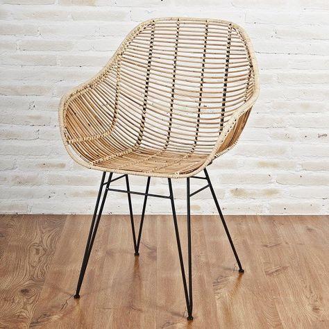 designstuhl viggo echt rattan natur moderner rattan stuhl mit armlehnen von. Black Bedroom Furniture Sets. Home Design Ideas