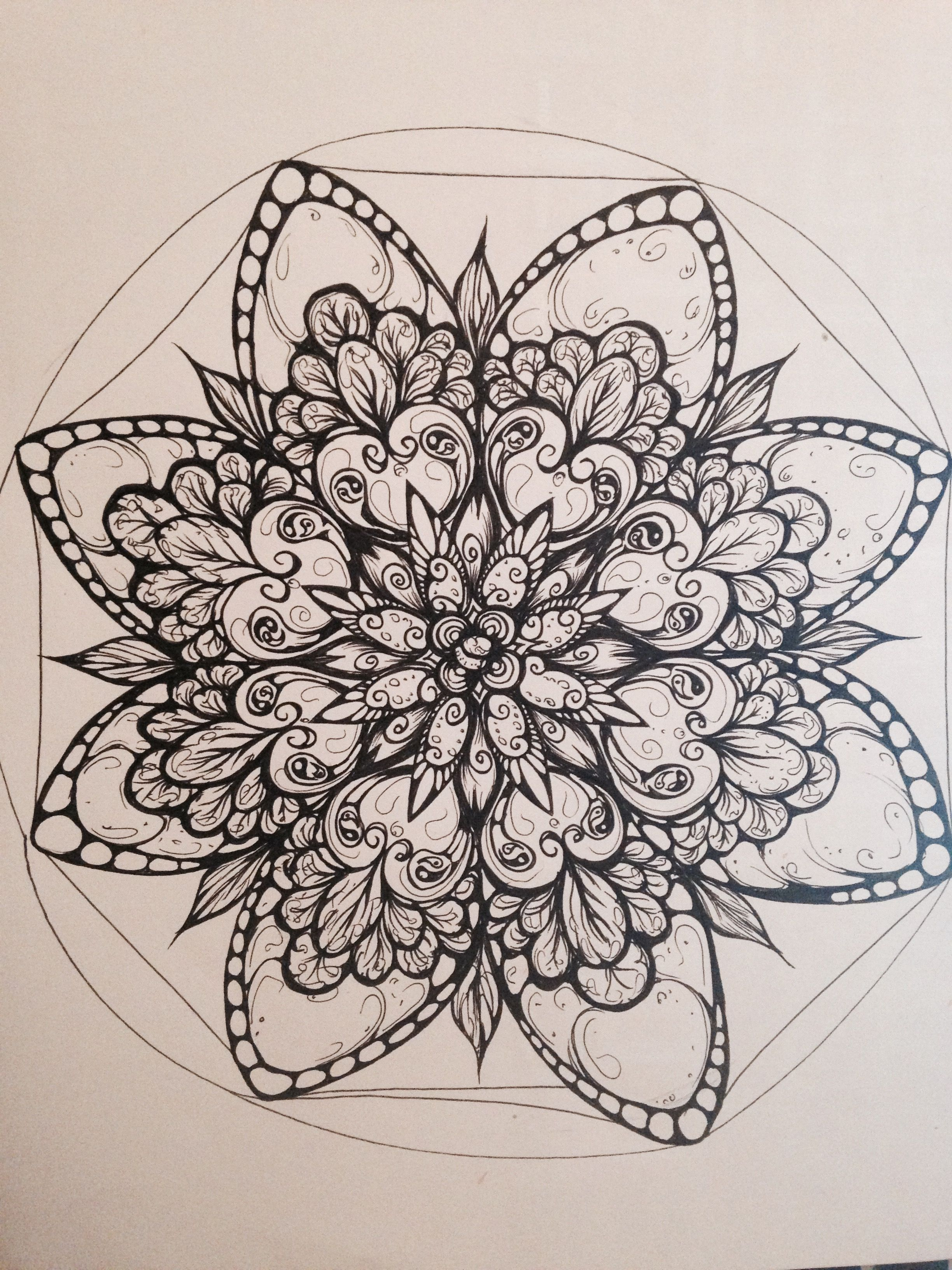 Pin By Katie S Retired On Zentangles Compass Tattoo Flowers