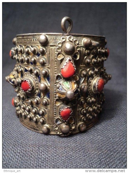 Bracelet berbère 19e Argent Corail Algérie Kabyle Kabylie Bijou Ethnique  Silver