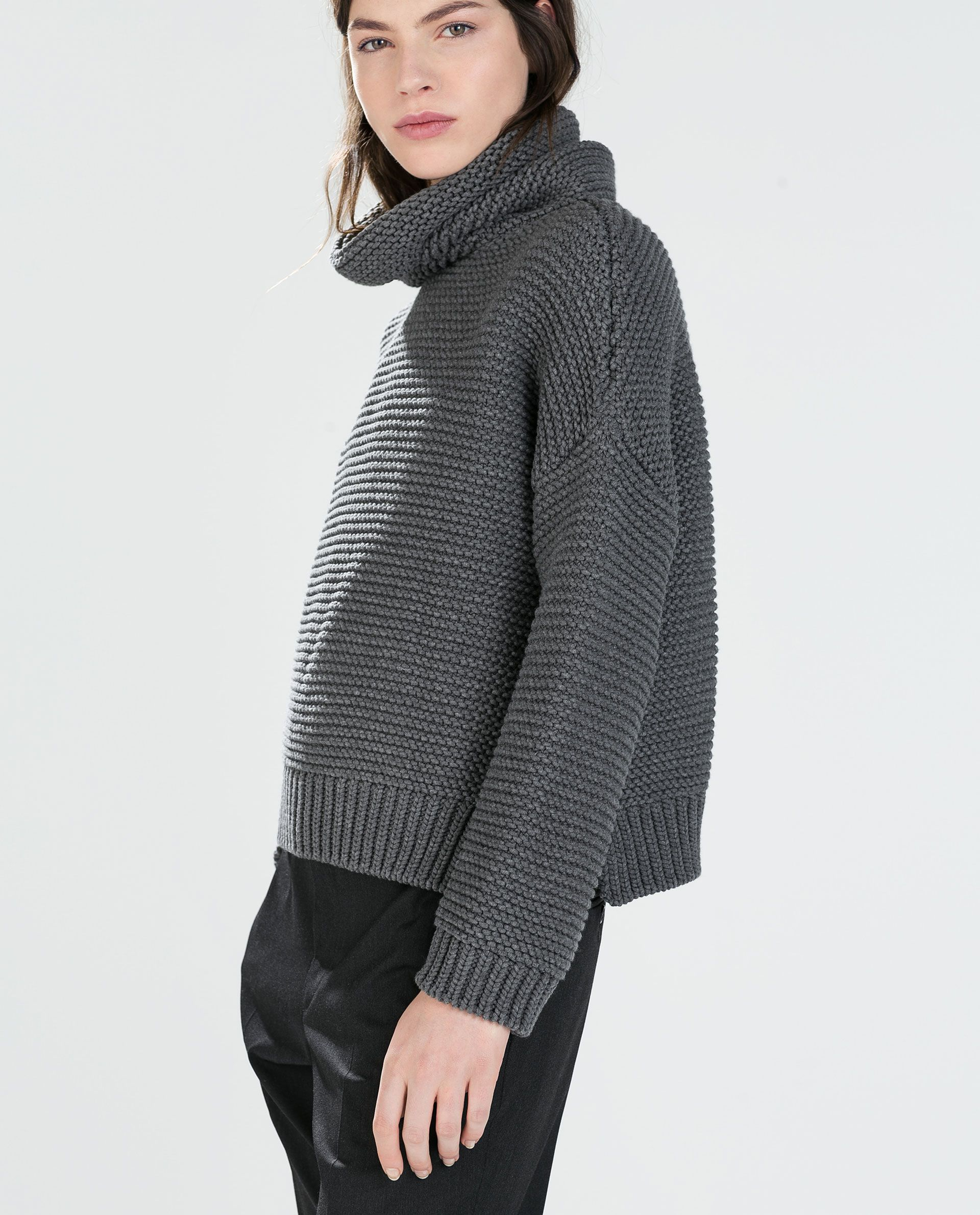 cf1bae43 Image 2 of HIGH NECK SWEATER from Zara | 333 pieces | Cardigans for ...