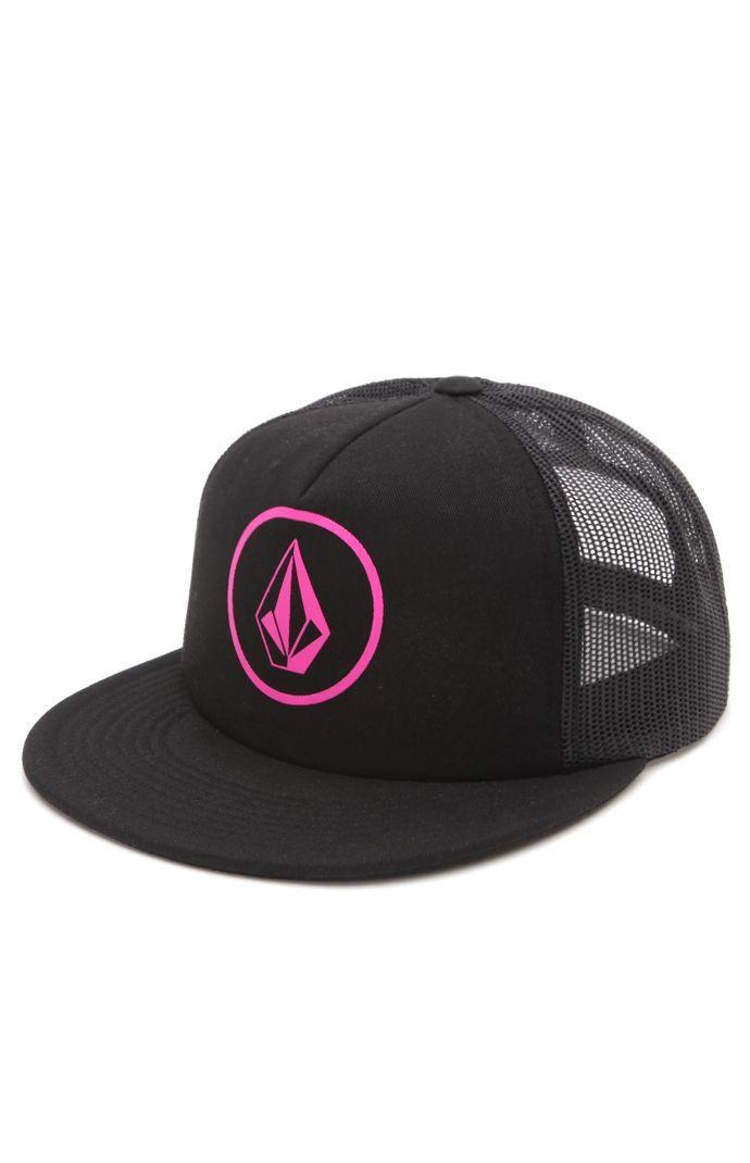 Pink trucker hat Volcom brand (surf go-to brand)  ddb74f942c9