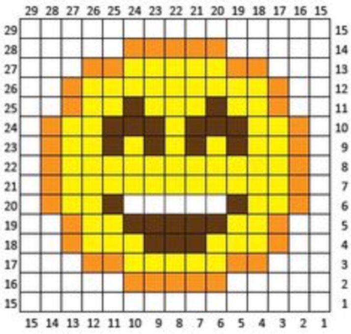 Emoji Pattern Emoji Patterns Perler Bead Emoji Pixel Crochet