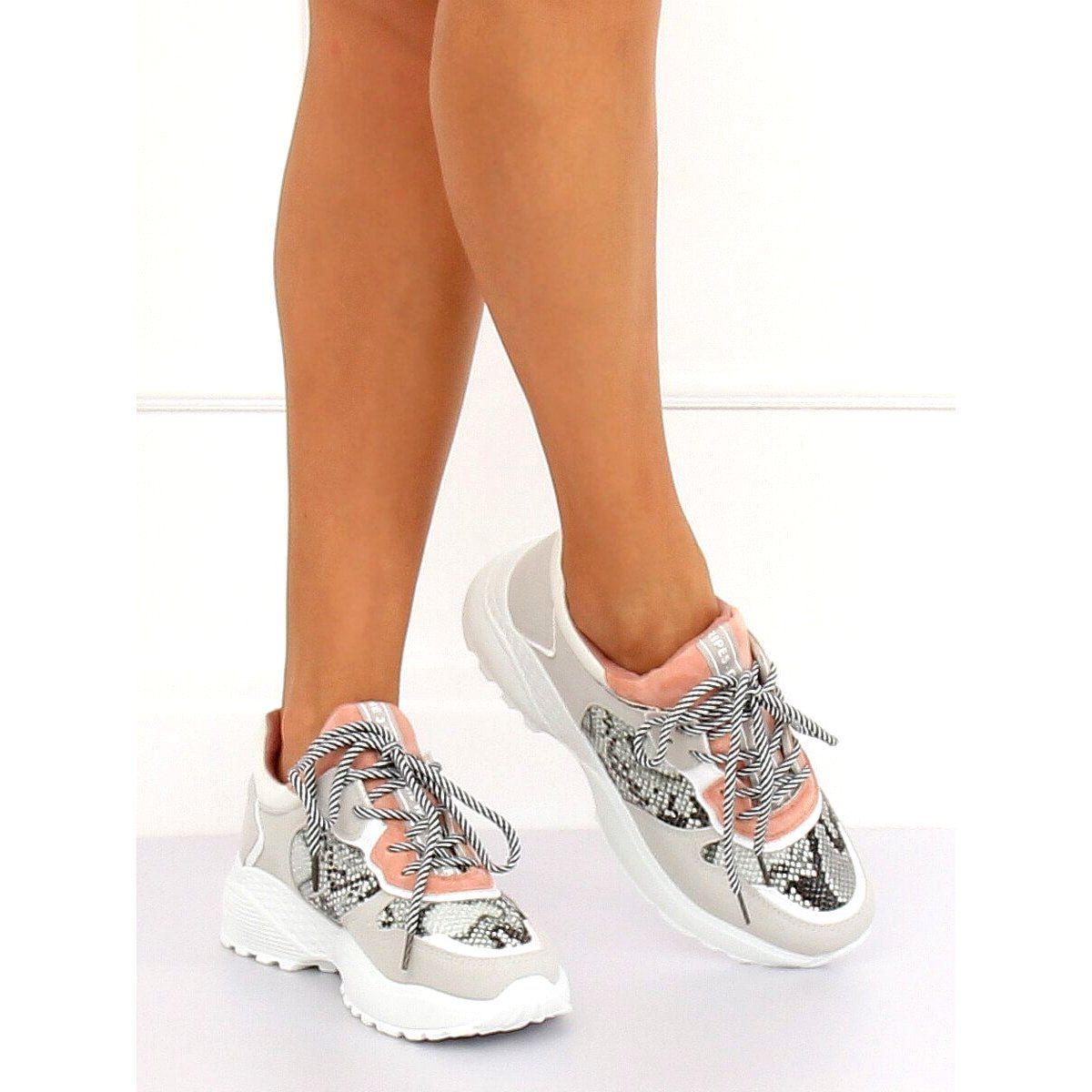 Buty Sportowe Szare Bl170p Snake Skin Rozowe Pink Sport Shoes All Nike Shoes Sport Shoes