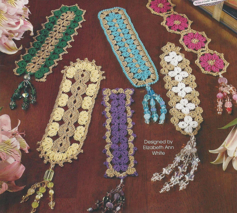 Crochet BookMark Bead-TASSELED Bookmarks CRO-TAT Technique Pattern Book 12 Designs. $6.25, via Etsy.