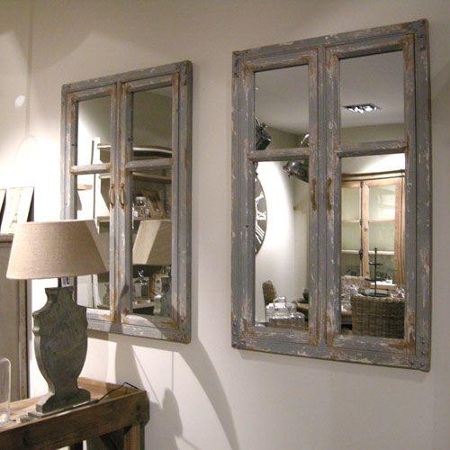Miroir en bois Belleville Athezza effet graffité décoration