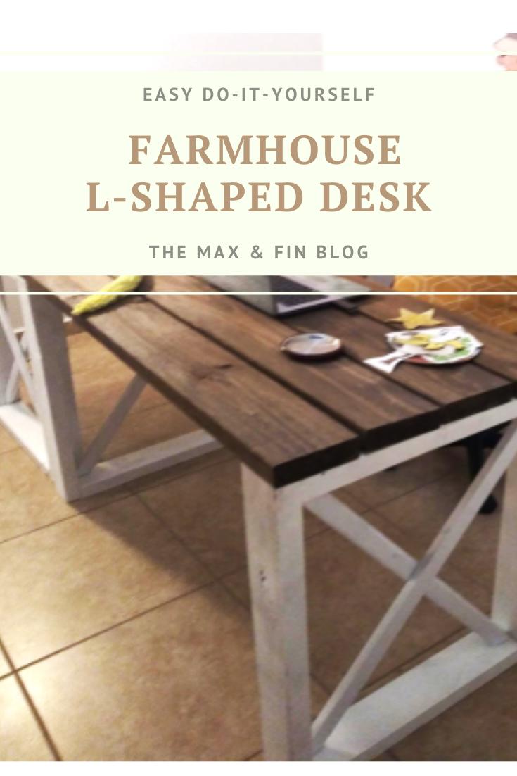 DIY Farmhouse Desk (With images) Modern farmhouse diy