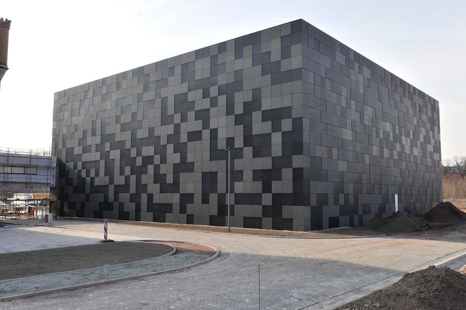 Magdeburg Architektur landeshauptarchiv in magdeburg naturstein monolith wie er im