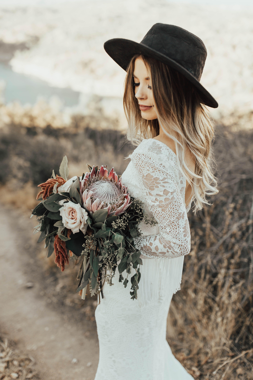 Boho bridal engagements kaelyn jake floral pinterest