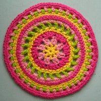 Crochet Mandala Wheel made by Anya, USA, for yarndale.co.uk