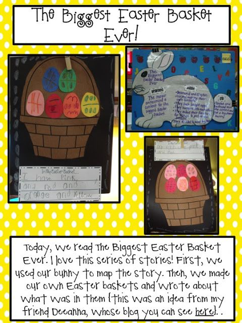 Easters on its way cute kindergarten activities to go with the easters on its way cute kindergarten activities to go with the book the biggest easter basket ever negle Images