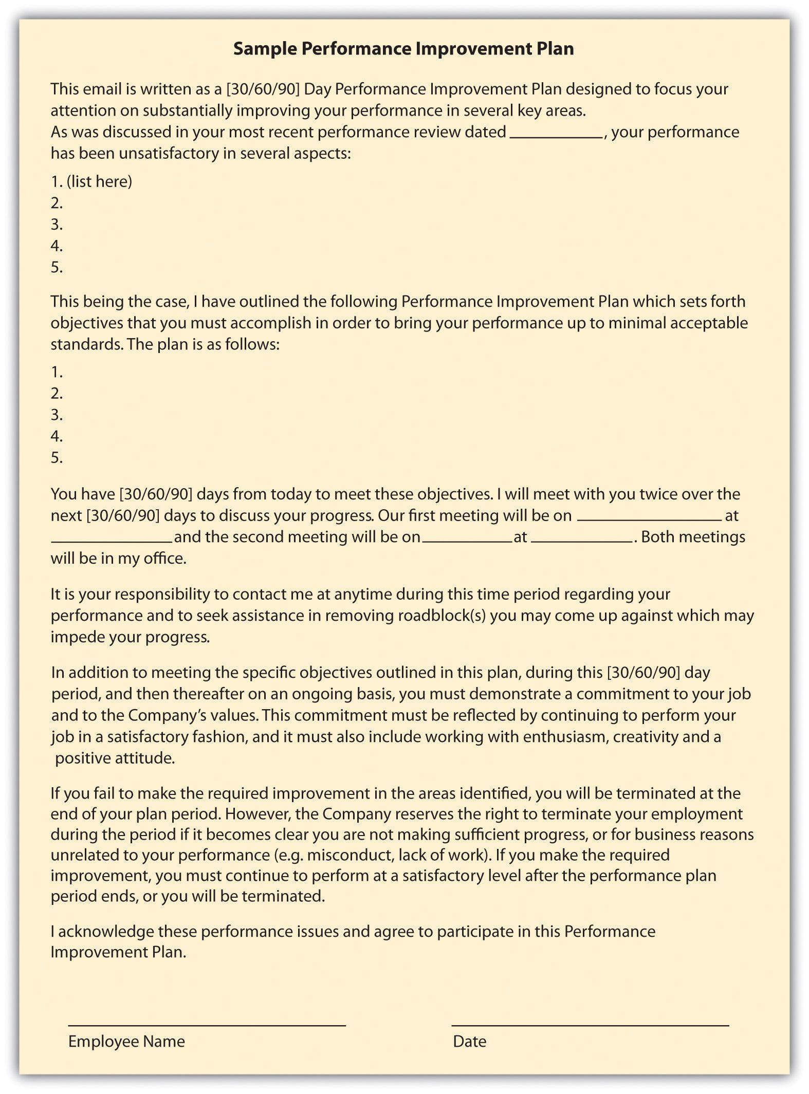 handling performance human resource management sample