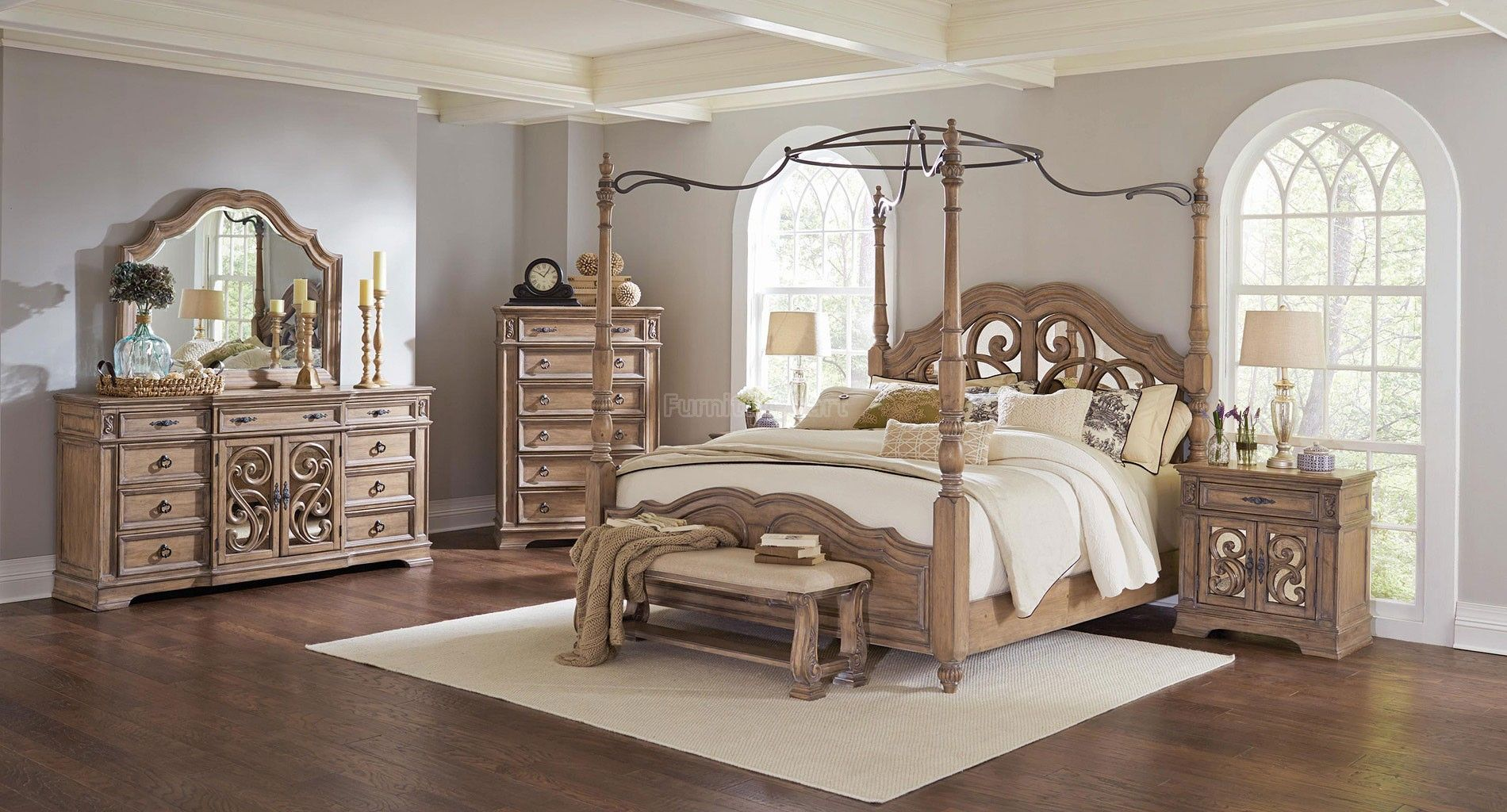 King Size Bedroom Sets Canopy ilana canopy bedroom set coaster furniture | furniture cart