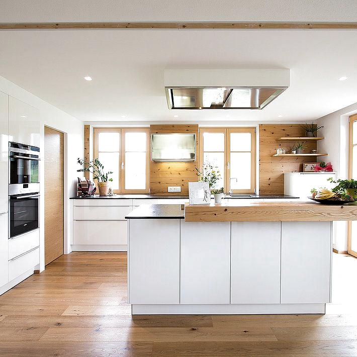 moderne küche mit fichte altholz| laserer tischlerei