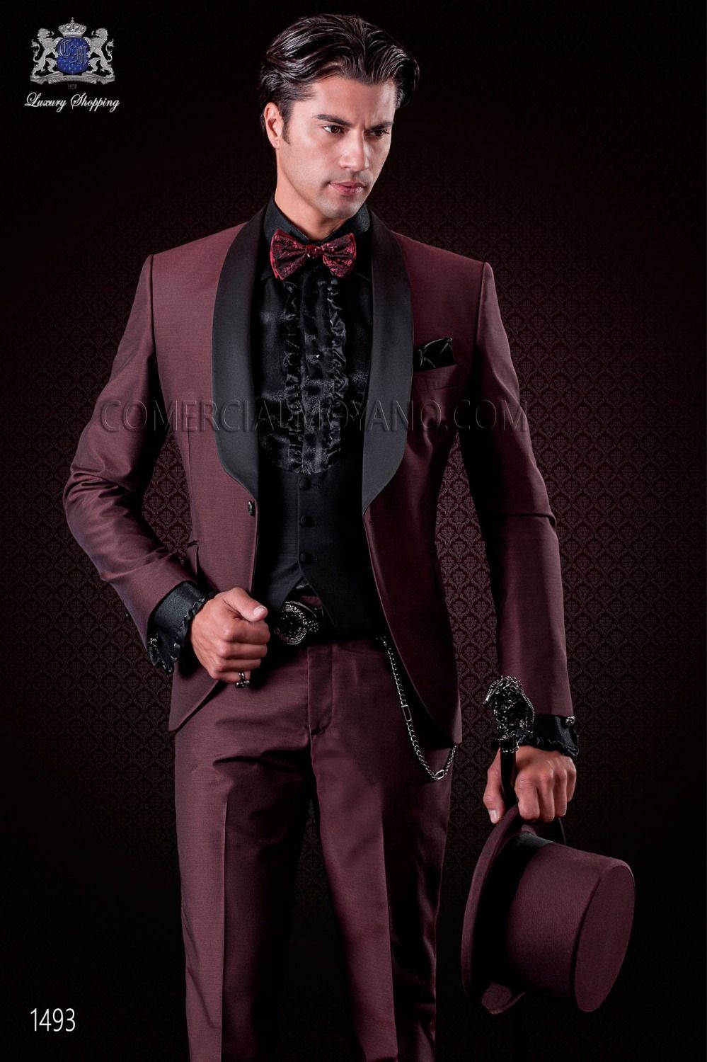 Click to Buy << Latest Coat Pant Designs Italian Burgundy Wedding ...